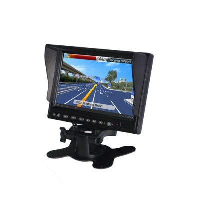 7 inch truck or bus touch screen LCD monitor with GPS navigation