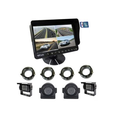 9inch digital 4 CH quad DVR monitor with video recording function