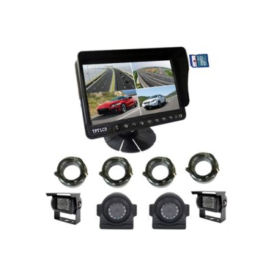 7inch 4 CH quad DVR monitor with video recording function
