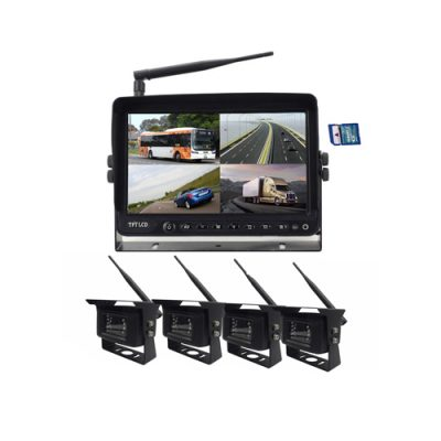 2.4GHz wireless 7 inch monitor backup camera system with DVR