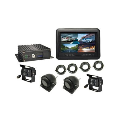 quad screen 7 inch monitor mobile DVR system single SD