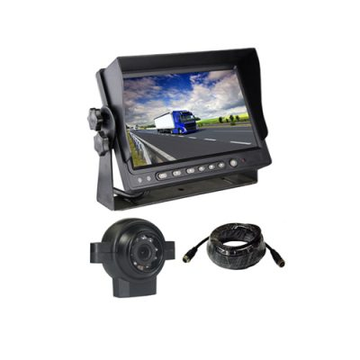 backup rear view car camera system with 24V 7 inch car monitor