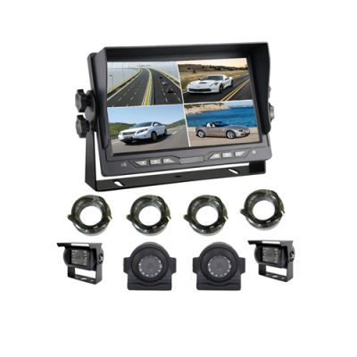 4CH input rear view reversing split screen 7 inch quad monitor