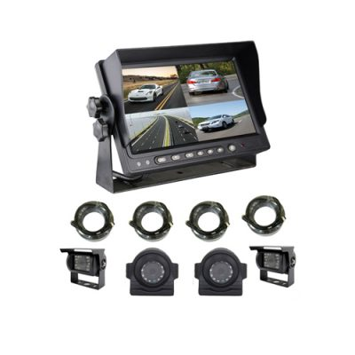 7 inch quad rear view reversing monitor 4CH input split screen