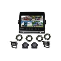 rearview 7 inch quad monitor 4CH input split touch screen
