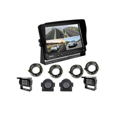 "4CH input quad backup rearview 7"" screen TFT LCD split monitor"